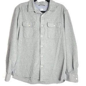 North Face Grey Flannel Cotton Button Down Shirt